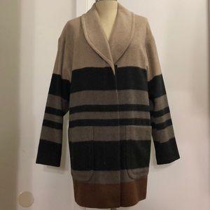 ✨SALE✨ LOFT Striped Coat